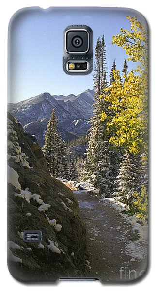 Galaxy S5 Case featuring the photograph Dream Lake Sunrise by Arthaven Studios