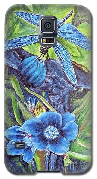 Dream Of A Blue Dragonfly Galaxy S5 Case by Kimberlee Baxter