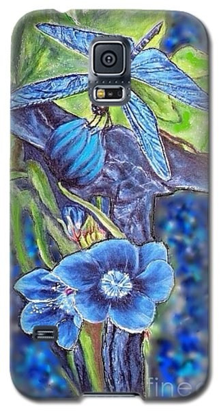 Dream Of A Blue Dragonfly Over Water Galaxy S5 Case by Kimberlee Baxter