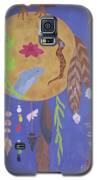 Galaxy S5 Case featuring the painting Dream Spirit Shield by Ellen Levinson