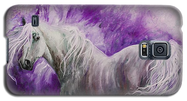 Galaxy S5 Case featuring the painting Dream Stallion by Sherry Shipley