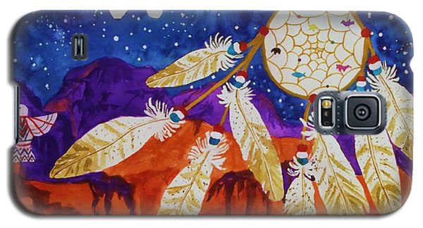 Dreamcatcher Over The Mesas Galaxy S5 Case by Ellen Levinson