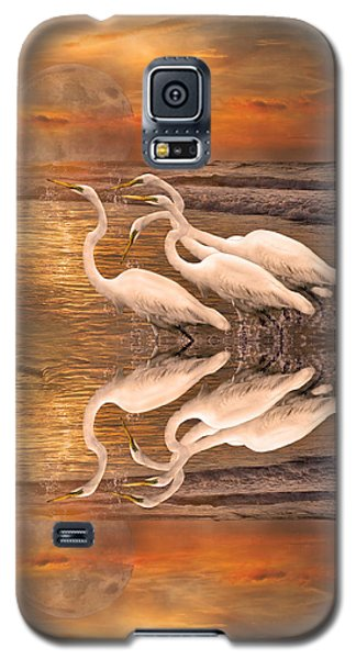 Dreaming Of Egrets By The Sea Reflection Galaxy S5 Case by Betsy Knapp