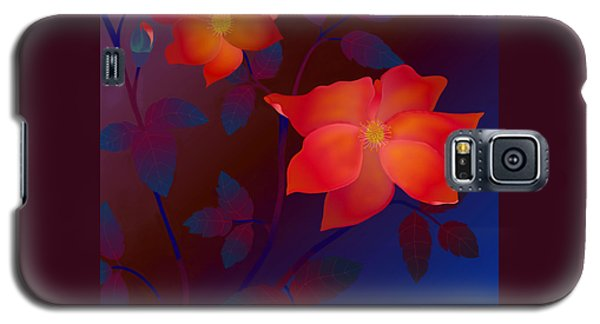 Galaxy S5 Case featuring the digital art Dreaming Wild Roses by Latha Gokuldas Panicker