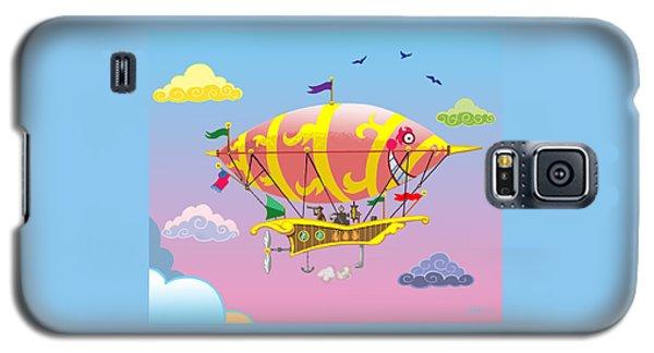 Rainbow Steampunk Dreamship Galaxy S5 Case by J L Meadows