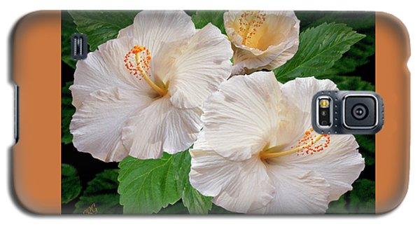 Dreamy Blooms - White Hibiscus Galaxy S5 Case