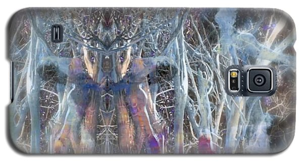 Dreamy Blue Up-dog Yoga Art Galaxy S5 Case