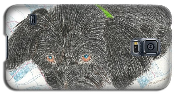 Galaxy S5 Case featuring the drawing Dreamy Della - Pencil by Sheila Byers