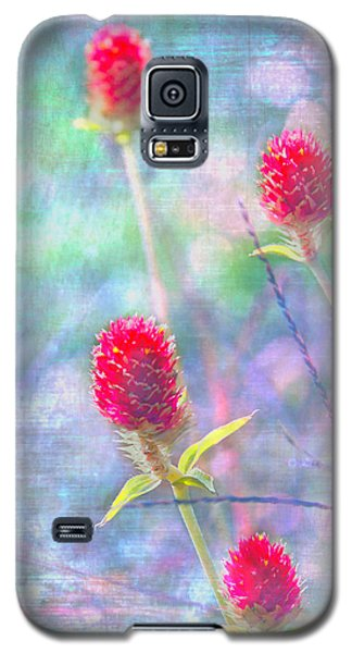 Dreamy Red Spiky Flowers Galaxy S5 Case