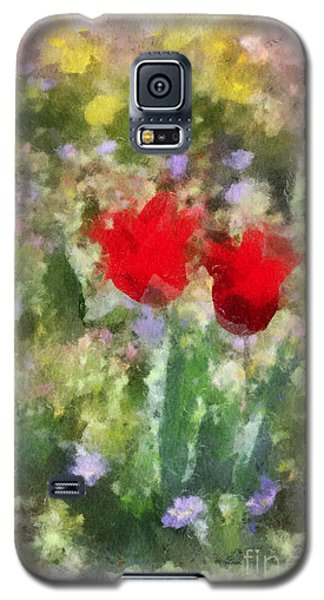 Galaxy S5 Case featuring the painting Dressed In Red  by Kerri Farley