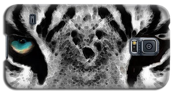 Dressed To Kill - White Tiger Art By Sharon Cummings Galaxy S5 Case by Sharon Cummings