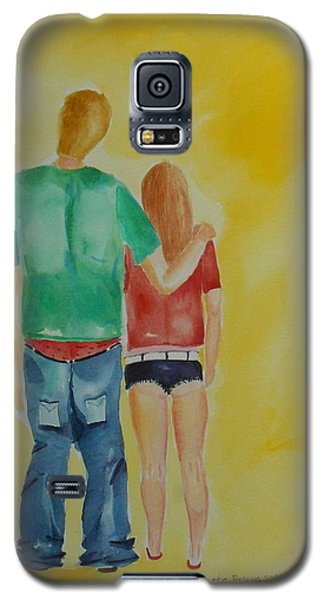 Galaxy S5 Case featuring the painting Dressing Down by Geeta Biswas