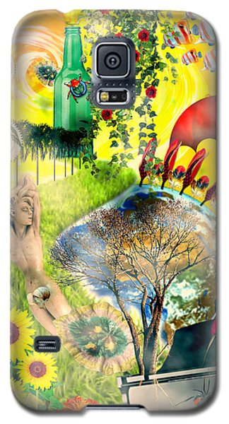 Galaxy S5 Case featuring the mixed media Drifting Away by Ally  White