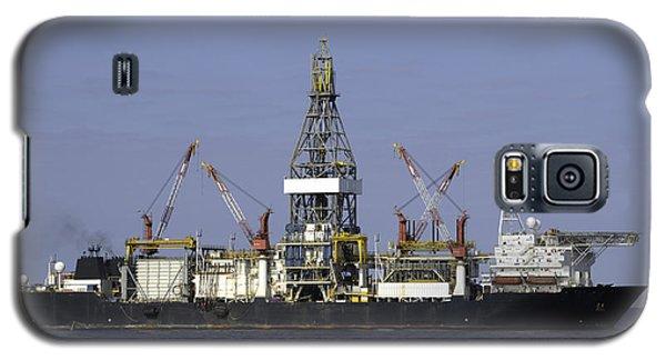 Drill Ship In Blue Ocean Galaxy S5 Case