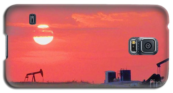 Galaxy S5 Case featuring the photograph Rising Full Moon In Oklahoma by Janette Boyd