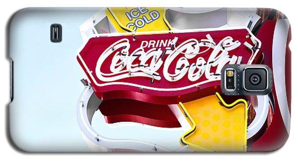 Drink Coca Cola Vintage Neon Sign Galaxy S5 Case