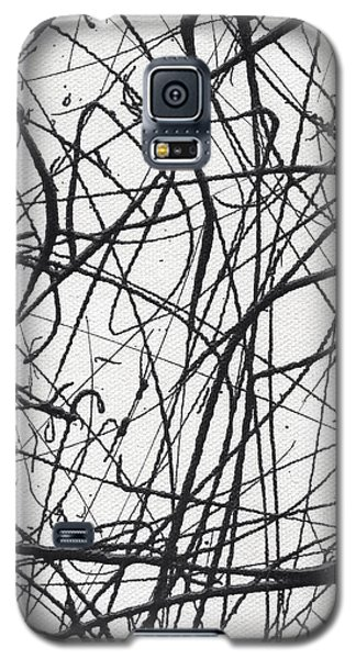 Drip Painting For Time's Up Galaxy S5 Case by Ismael Cavazos