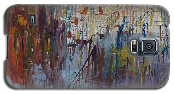 Galaxy S5 Case featuring the painting Drizzled by Avonelle Kelsey