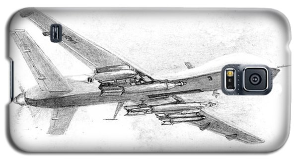 Galaxy S5 Case featuring the drawing Drone Mq-9 Reaper by Jim Hubbard