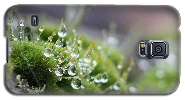 Galaxy S5 Case featuring the photograph Droplets by Cathie Douglas