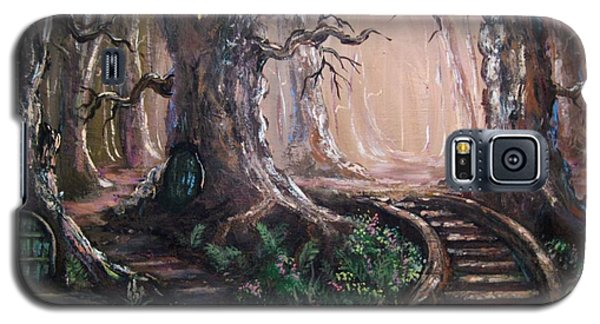 Galaxy S5 Case featuring the painting Druid Walk by Megan Walsh
