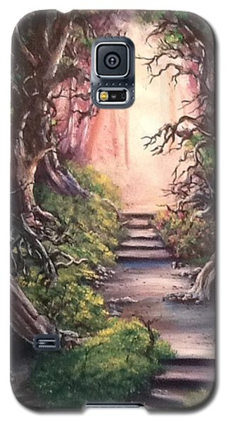 Galaxy S5 Case featuring the painting Druid's Walk by Megan Walsh