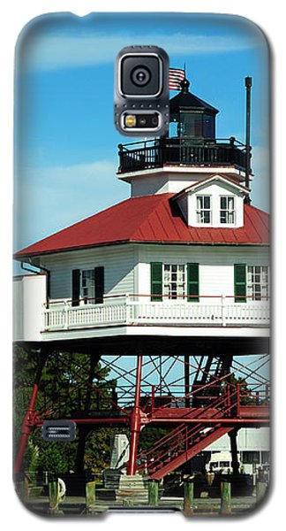 Drum Point Lighthouse Galaxy S5 Case by Rebecca Sherman