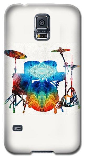 Drum Galaxy S5 Case - Drum Set Art - Color Fusion Drums - By Sharon Cummings by Sharon Cummings
