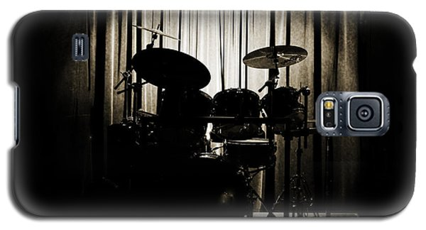 Drum Set On Stage Photograph Combo Jazz Sepia 3234.01 Galaxy S5 Case