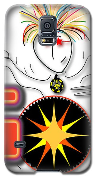 Galaxy S5 Case featuring the drawing Drummer Spike by Marvin Blaine