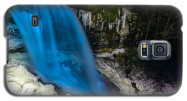 Galaxy S5 Case featuring the photograph Dry Falls At Night by Serge Skiba