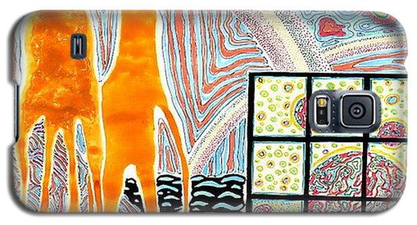Galaxy S5 Case featuring the painting Duble   F I G K U L T U R by Yury Bashkin