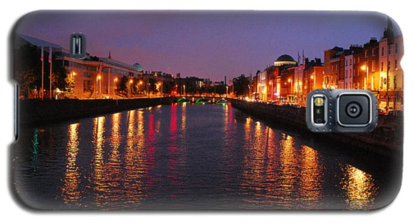 Galaxy S5 Case featuring the photograph Dublin Nights by Mary Carol Story