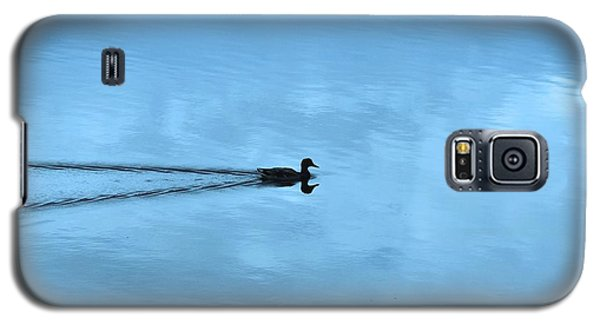 Galaxy S5 Case featuring the photograph Duck In The Clouds by Karen Molenaar Terrell