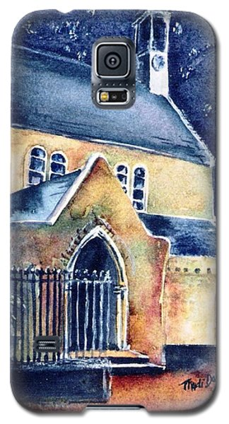 Galaxy S5 Case featuring the painting Duiske Abbey Ireland    by Trudi Doyle