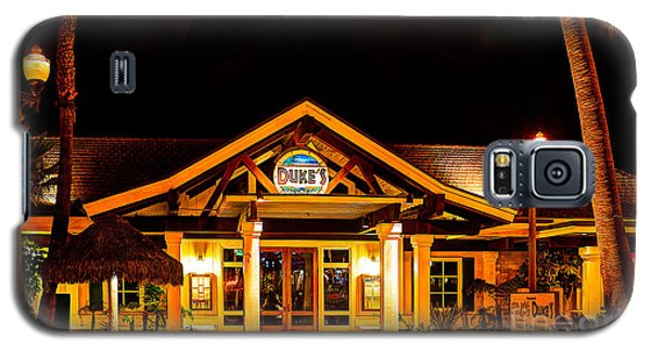 Galaxy S5 Case featuring the photograph Duke's Restaurant Front - Huntington Beach by Jim Carrell