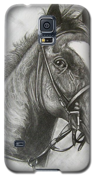 Galaxy S5 Case featuring the drawing Dullahan by Patrice Torrillo