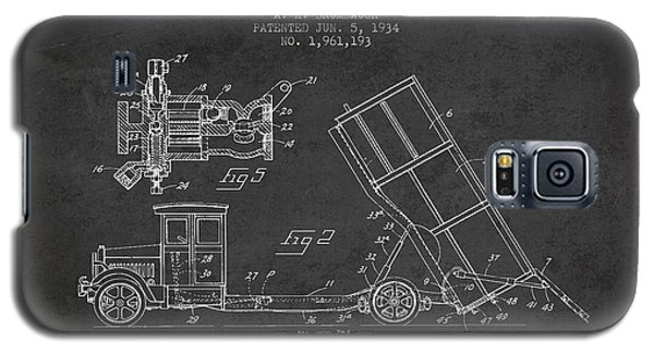 Dump Truck Patent Drawing From 1934 Galaxy S5 Case by Aged Pixel