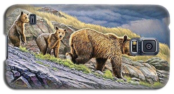 Dunraven Pass Grizzly Family Galaxy S5 Case