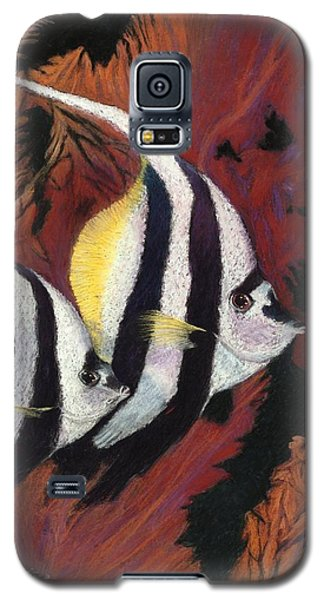 Galaxy S5 Case featuring the pastel Duo Angeli  Pastel by Antonia Citrino