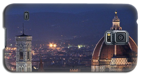 Galaxy S5 Case featuring the photograph Duomo At Night Florence Italy by Sally Ross