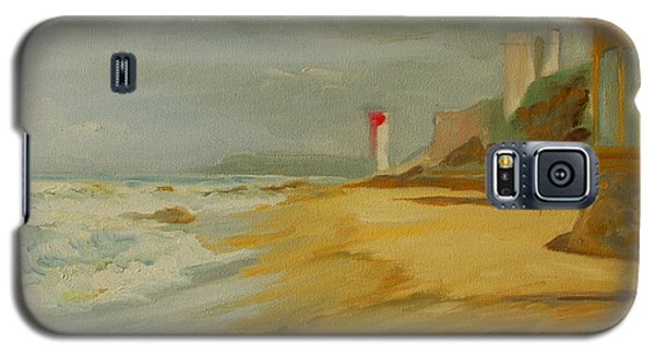 Galaxy S5 Case featuring the painting Durban Light House by Thomas Bertram POOLE