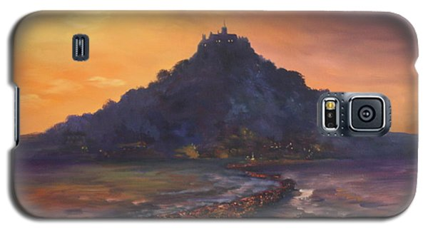 Galaxy S5 Case featuring the painting Dusk Over St Michaels Mount Cornwall by Jean Walker