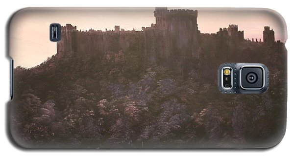 Galaxy S5 Case featuring the painting Dusk Over Windsor Castle by Jean Walker