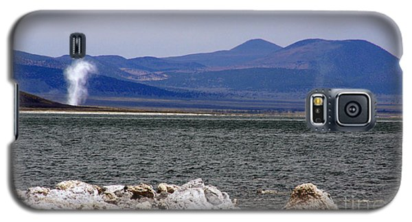 Galaxy S5 Case featuring the photograph Dust Devils Of Mono Lake by Thomas Bomstad