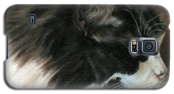 Dusty Our Handsome Norwegian Forest Kitty Galaxy S5 Case by LaVonne Hand