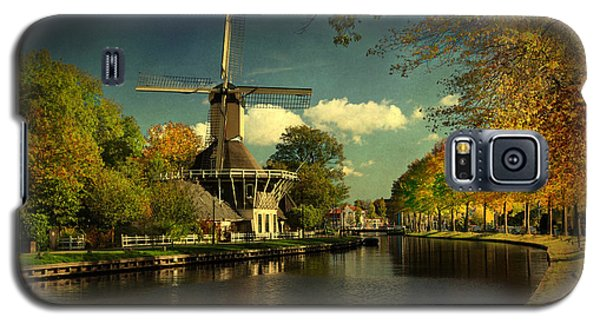 Galaxy S5 Case featuring the photograph Dutch Windmill by Annie Snel