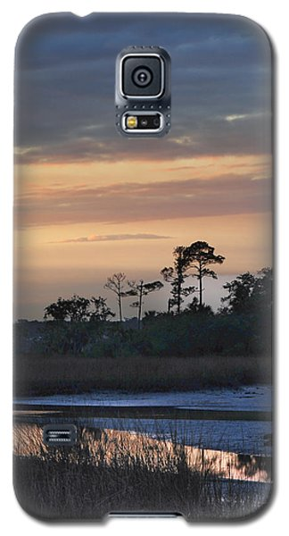 Galaxy S5 Case featuring the photograph Dutton Island At Dusk by Phyllis Peterson