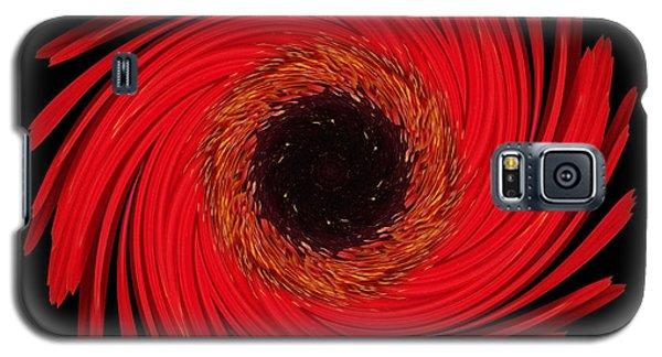 Dying Amaryllis Flower Mandala Galaxy S5 Case by David J Bookbinder