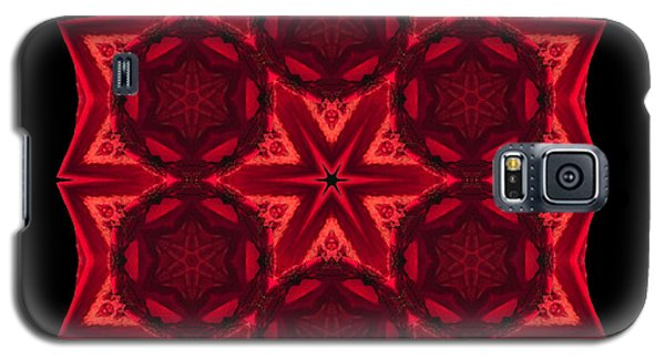 Galaxy S5 Case featuring the photograph Dying Amaryllis IIi Flower Mandala by David J Bookbinder